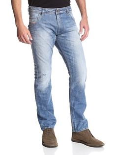 43% OFF Diesel Men's Slim Fit Krooley Jeans (Light Wash)