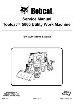 296 Best Bobcat Manual images in 2018   Manual, Repair manuals, Skid
