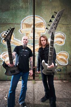 David ellefson and Scott ian of anthrax