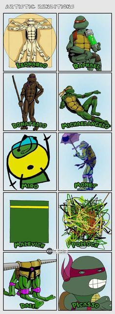 All the Teenage Mutant Ninja Turtles @Hector Ramos Ramos Granado @Design & Happiness Kittiyachavalit Granado