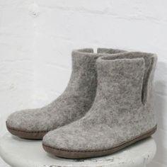 Image of Bidi Felt Slipper Boots in S/M/L