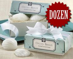 (Price/Dozen)Ocean Breeze Seashell Soaps - Valentines Gifts & Wedding Favors by Idoo. $21.99. To improve your life with this Hot sale Item. Enjoy your bath with this.. Satisfaction Ensured.. Price is for Dozen.Ocean Breeze Seashell Soaps - Valentines Gifts & Wedding Favors Fragrant and refreshing as an ocean breeze, the essence of the sea has been captured by Kate Aspen and  gorgeously gift-boxed for your next beach-themed event. You'll create a wave of excitement among yo...