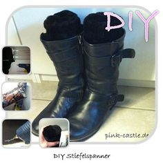 DIY Stiefelspanner / Boot Shaper Easy Tutorial @ www.pink-castle.de