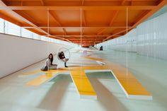 Cartagena Auditorium by Selgas Cano- love the orange!