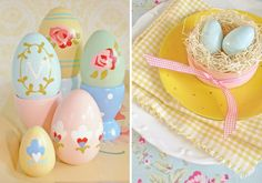 Pastel Painted Eggs!  @jocelynmerkel you could do this with all those wood eggs you have!  (Or I could help you!!)  ;)