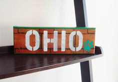 OHIO UNIVERSITY BOBCATS Athens Block  12x4 Mixed by ColMarieSmith, $50.00