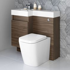 Aquariss Double Ended Bath Bathroom Suite + Grey Combination Vanity Unit WC Toilet Sink Wall Hung Bathroom Vanities, Bathroom Drawers, Bathroom Vanity Units, Fitted Bathroom, Bathroom Ideas, Bathroom Designs, Bathroom Layout, Bathroom Furniture, Bathroom Inspiration