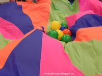 Parachute Games - for science storytime, great list of possible songs and activities