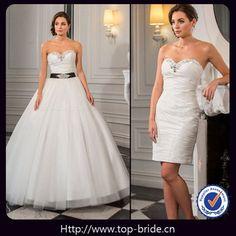 TB4139 Fashion Designer Romantic Wedding Dress Detachable Skirt