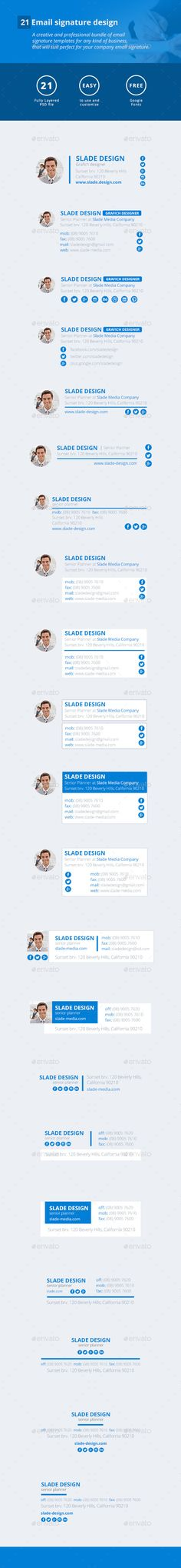 21 Email Signature Design