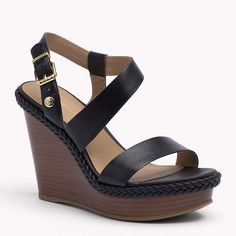 98,00 E Tommy Hilfiger Estelle Wedges - black (Black) - Tommy Hilfiger Wedges & Espadrilles - main image