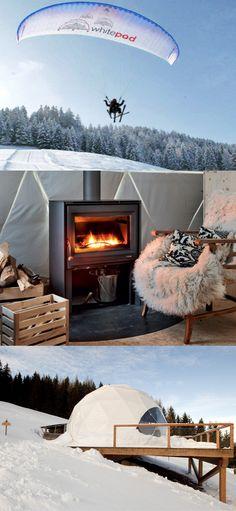 Whitepod Eco-Luxury Hotel, Valais Suisse, Switzerland