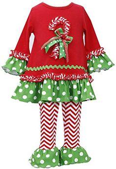 Little-Girls 2T-6X Bell Sleeve Candy Cane Dress/Legging Set, RD3SP, Red, Bonnie Jean, Little Girls 4-6X, TDLG Special Occasion Holiday Social Party Dress Bonnie Jean http://www.amazon.com/dp/B00QDC5JIC/ref=cm_sw_r_pi_dp_Ei0Eub1MWREC3