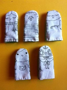 hand printed puppets