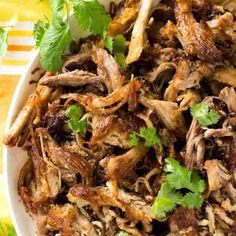 (Mexican Slow Cooker Pulled Pork) Overhead shot of crispy golden and juicy Pork Carnitas .Overhead shot of crispy golden and juicy Pork Carnitas . Crock Pot Recipes, Slow Cooker Recipes, Cooking Recipes, Healthy Recipes, Cooking Broccoli, Cooking Fish, Cooking Bacon, Juice Recipes, Smoothie Recipes