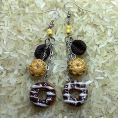 Sweet long bakery earrings Food jewelry earrings. by Simo4ka