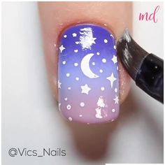 Nail Color Combos, Nail Colors, Unique Braided Hairstyles, Sky Nails, Sparkle, Black And White Background, Nail Art, Beautiful Sky, Night Skies