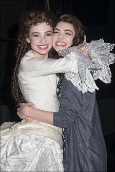 Phantom Celebrates 27 Years on Broadway - Julia Udine and Kaley Ann Voorhees//THIS IS SO CUTE!!!