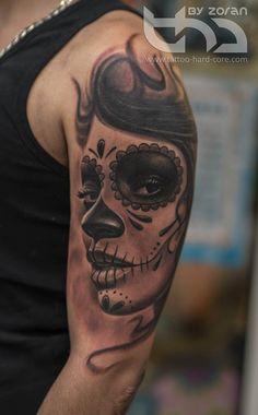 La Catrina Tattoo By Zoran by tattoohardcore on @DeviantArt