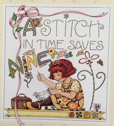 A Stitch In Time Saves Nine-Large Mary Engelbreit Artwork Magnet