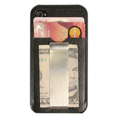 Revolutionary ultra thin i.CLiPP wallet case with money clip for iPhone 4/4S