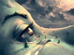 French artist Cyril Rolando creates surreal fantasy universes inspired by Hayao Miyazaki and Tim Burton Hayao Miyazaki, Art And Illustration, Art Illustrations, Tim Burton, Cyril Rolando, Surrealism Painting, Painting Art, Conceptual Painting, Pop Surrealism
