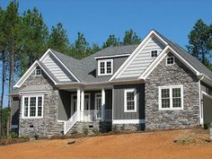 mixing stone with vinyl siding | Vinyl Siding Portfolio by CrownBuilders, via Flickr
