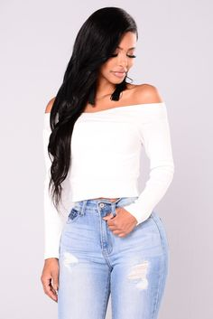 dc91965ce162f Cheyanne Off Shoulder Sweater - White