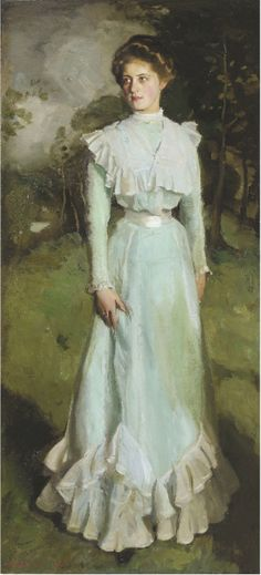 "Harrington Mann ""Portrait d'Isabella Nairn"" 1901"