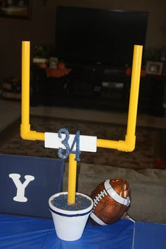 PARTY Football On Pinterest Parties Centerpieces And