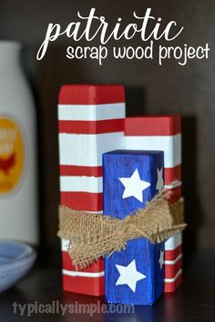 Patriotic Scrap Wood