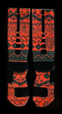 "Custom Nike Elite Socks - Thesockgame.com — KD5 ""Black History Month"" - Custom Nike Elite Socks……… yes plz"