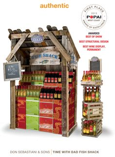 POPAI award winning display by PackagingArts; Best of Show, Best Structural Design, Best Wine Display, and more awards.