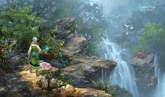 waterfall by wang2dog.deviantart.com on @deviantART