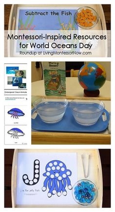 Lots of resources, both printables and activities, for World Oceans Day June 8 (the resources work well for any ocean unit)