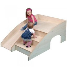 Wooden Indoor Slide And Hide - Image 1 of 2