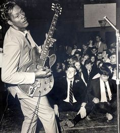 """Rock's so good to me. Rock is my child and my grandfather.""  Chuck Berry (no further info on the photo)"