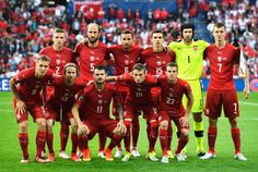 The Czech Republic pose for team photo prior to the UEFA EURO 2016 Group D match between Czech Republic and Turkey at Stade Bollaert-Delelis on June 21, 2016 in Lens, France.