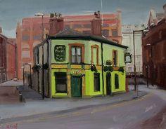 "Peveril of the Peak, Manchester by Michael John Ashcroft Oil ~ 8"" x 10"""