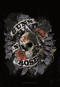 Drapeau GUNS N ROSES - Skull