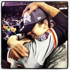The final battery - @SergioRomo54 and @BusterPosey #SFGiants #SFGChamps