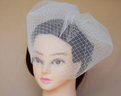 Double Birdcage Veil Blusher Veil fascinator wedding headpiece bridal hair style