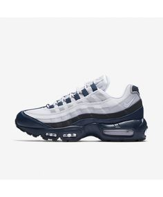 huge discount 7b410 65a97 Nike Air Max 95 Essential Armoury Navy Anthracite Wolf Grey White Mens Shoes  Outlet Air Max