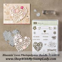 Bloomin' Love Photopolymer Bundle Valentine's Day set from Stampin' Up! Occasions Catalog. http://shopwithmystamplady.com