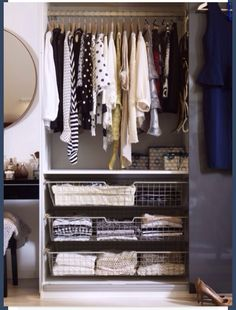 Drawers are an excellent way to keep your closet organized