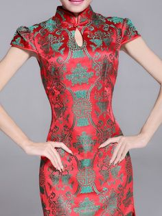Short Cheongsam   Qipao   Chinese Wedding Dress Chinese Gown b81b30e15e01