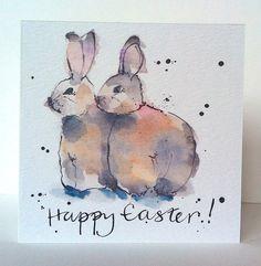 Easter Twin Bunnies Card Card from Original от PebbleandBee