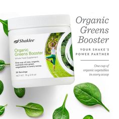 Shaklee's new Organic Greens Booster is a whole food supplement providing one cup of raw, organic, nutrient-rich green vegetables in every scoop, making it easy to get the vegetables often missed in meals. Contains 30 servings in every canister. Add one scoop or more to your favorite Life Energizing Shake or other beverage and try …