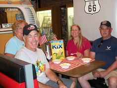 """Folks getting their """"Kix on Route 66"""" at the Illinois Route 66 Museum in Pontiac."""
