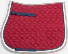 Red/Navy/Beige Saddle Pad